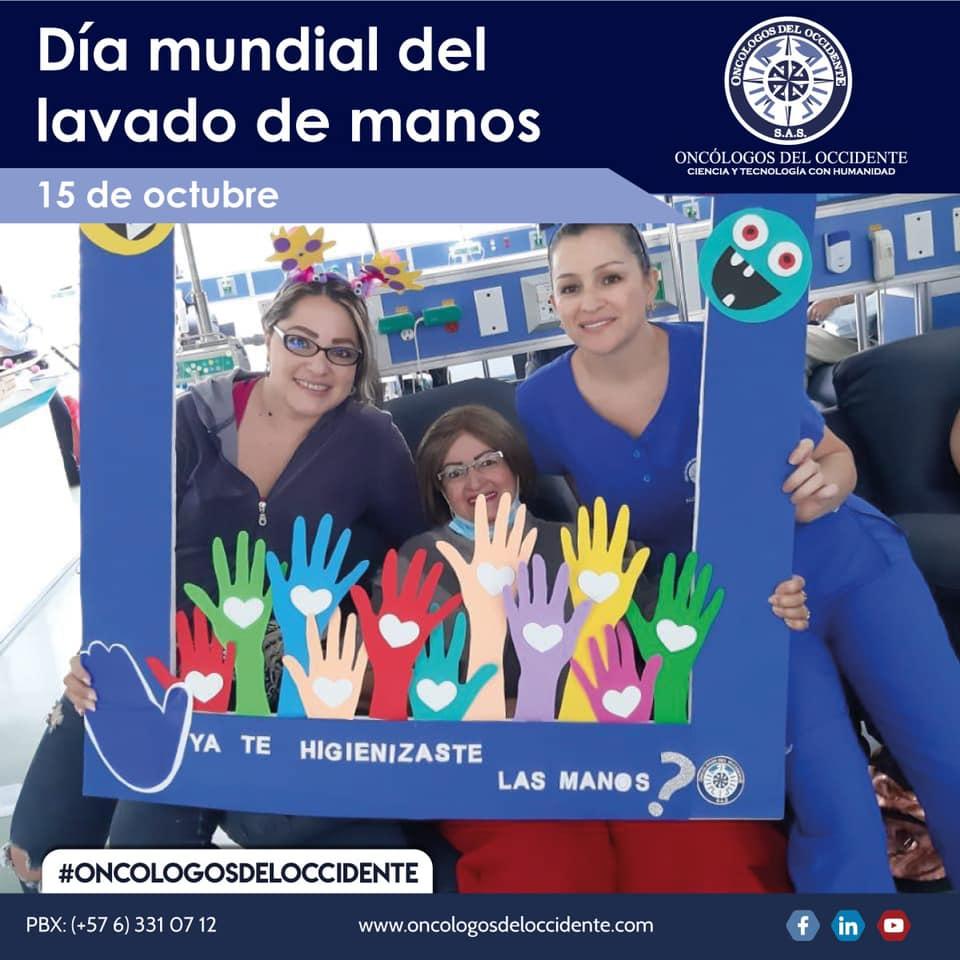 Día mundial del lavado de manos en Oncólogos del Occidente