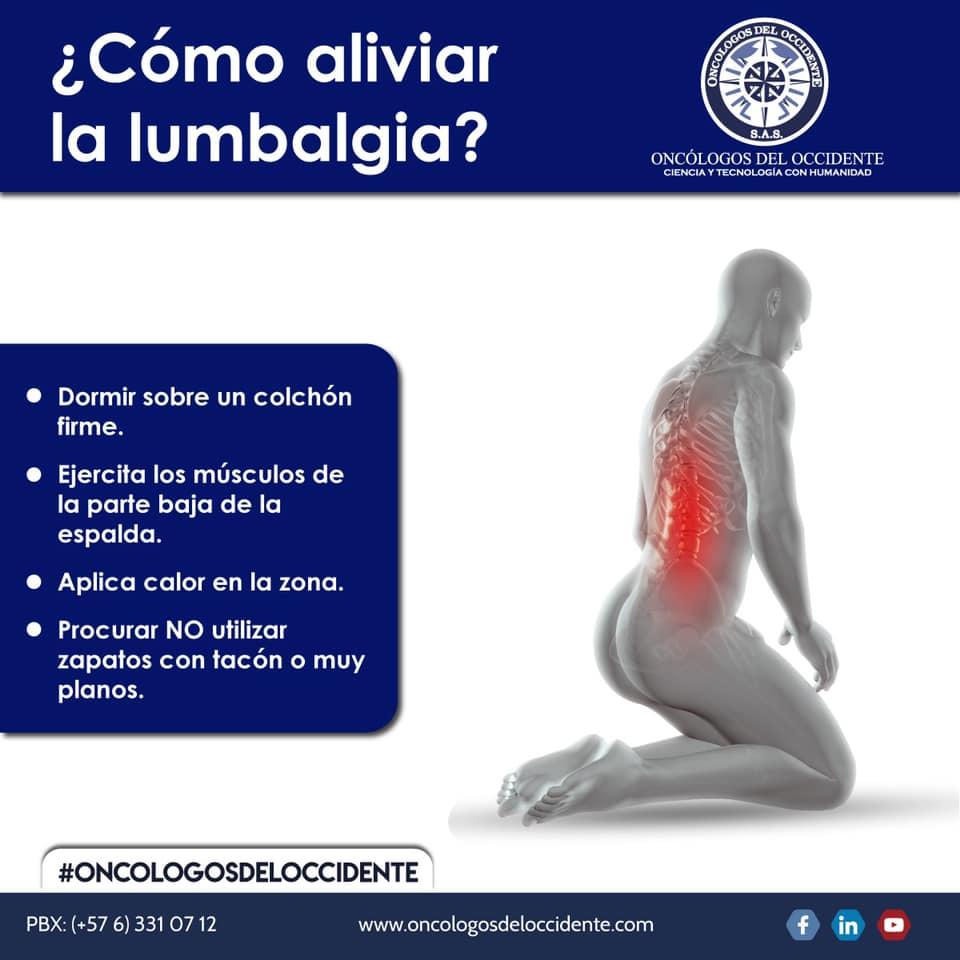 ¿Cómo aliviar la lumbalgia?