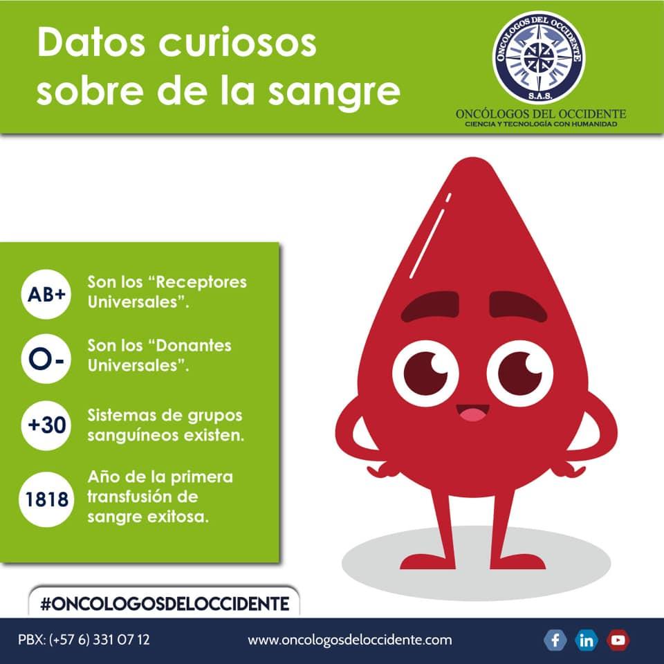 Datos curiosos sobre la sangre