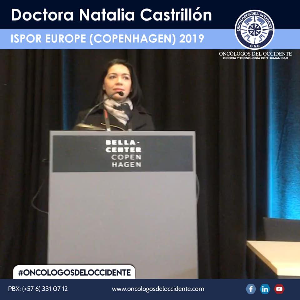 Doctora Natalia Castrillón – ISPOR EUROPE (COPENHAGEN) 2019