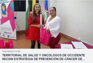 Territorial de salud de Caldas y Oncólogos del Occidente inician estrategia de prevención de Cáncer de mamá