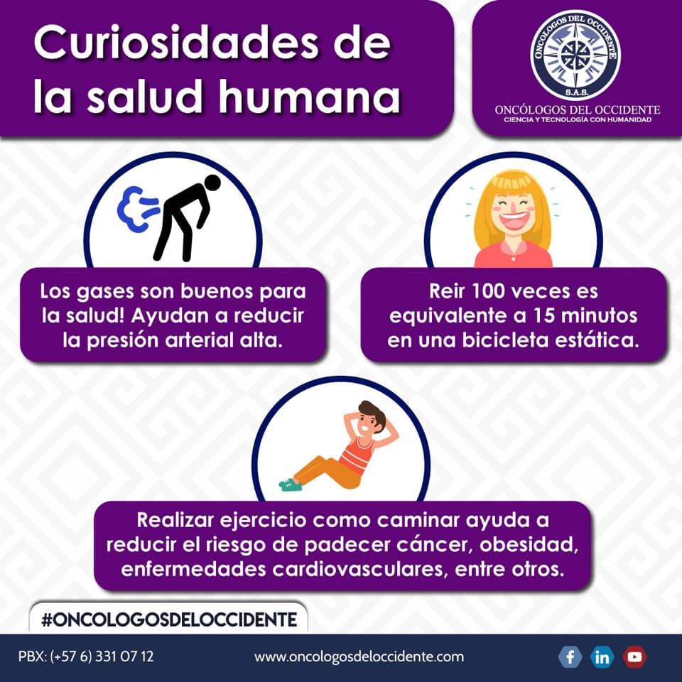 Curiosidades de la salud humana