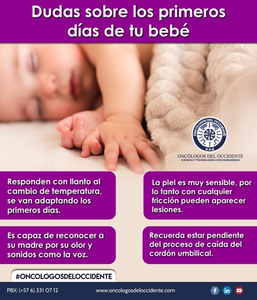 Dudas sobre los primeros días de tu bebé