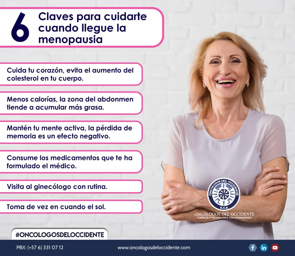 6 claves para cuidarte cuando llegue la menopausia