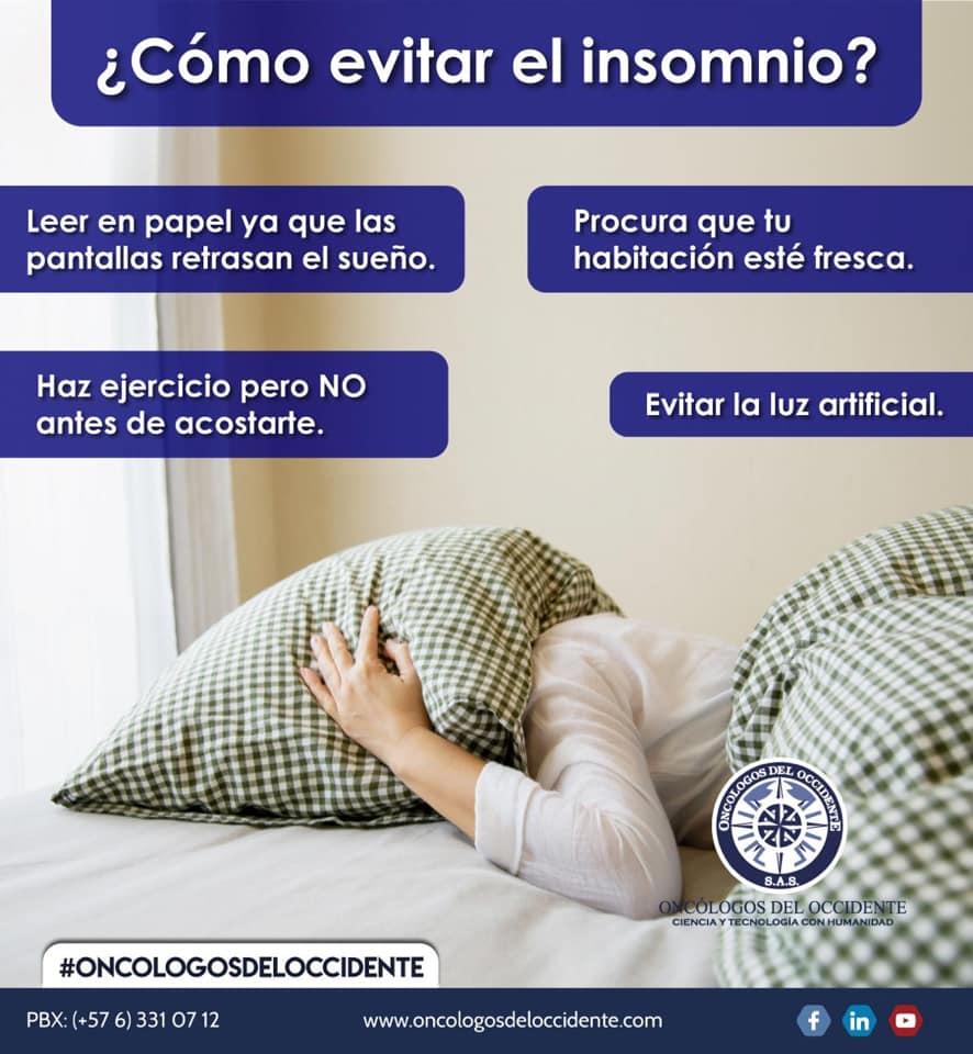 ¿Cómo evitar el insomnio?