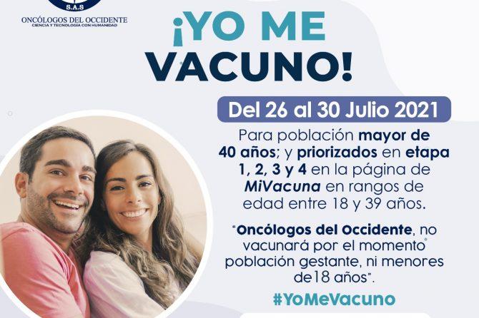 Vacúnate en Pereira (del 26 al 30 de julio 2021)