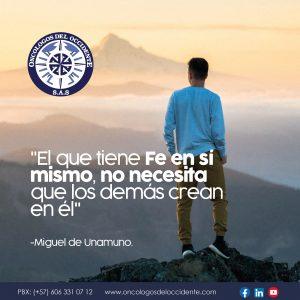 Frase de Miguel de Unamuno